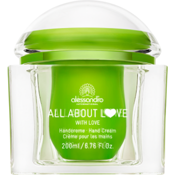 Alessandro - All About Love Handcreme  With Love! Tiegel Grün 200ml