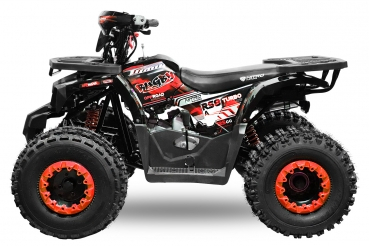 Nitro Motors Rugby RS8-3G midi Quad 125cc 8 Zoll Semi- Automatik + Rg Kinderquad Atv Platin Line in RED