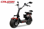 1000W 60V Eco Cruzer Lithium-on Batterie E-Chopper Elektro Roller E-Scooter 2-Sitzer  Voll Federung - in GREY